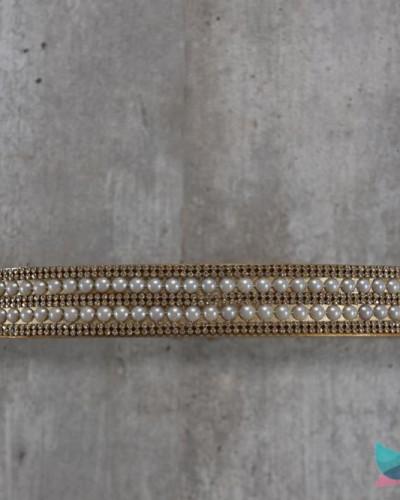 Detalhes do produto Dossél Dourado com Pérolas e Strass