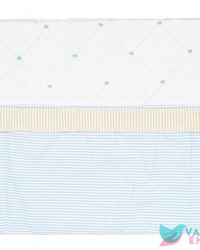 Detalhes do produto Capa de Carrinho Guto Listradinho Azul e Bege