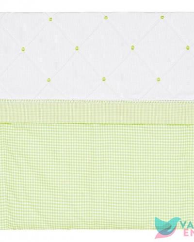 Detalhes do produto Capa de Carrinho Patchwork Xadrezinho Verde