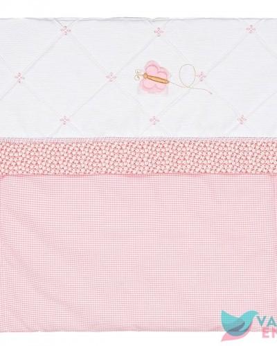 Detalhes do produto Capa de Carrinho Sianinha Xadrez e Floral Rosa