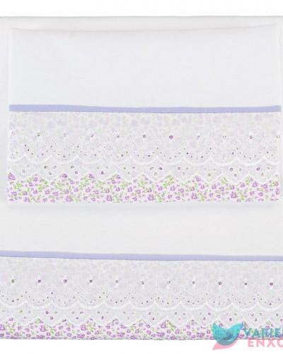 Detalhes do produto Colchonete para Carrinho Lilás Floral Caldeiras