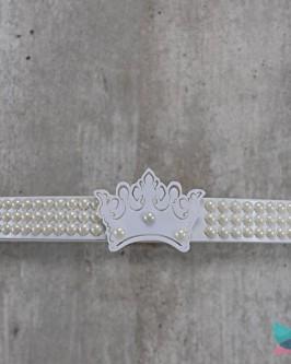 Dossél Branco Pérolas e Coroa