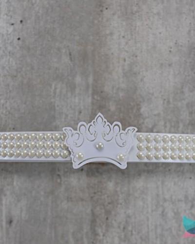 Detalhes do produto Dossél Branco Pérolas e Coroa