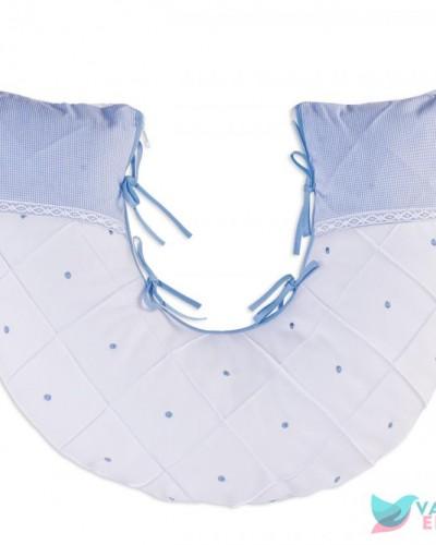 Detalhes do produto Almofada de Amamentação Boneco Azul Xadrezinho