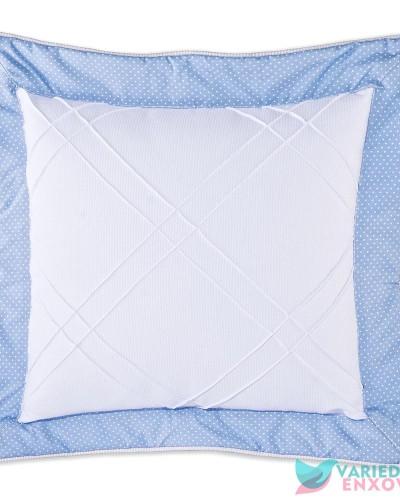 Detalhes do produto Almofada Quadrada Ursinho Azul