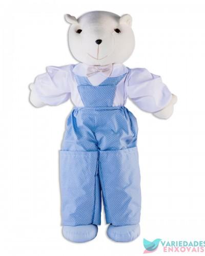 Detalhes do produto Boneco Porta Fraldas Urso Azul