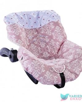 Capa de Bebê Conforto Arabesco Rosê
