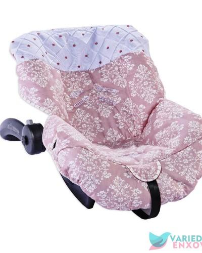 Detalhes do produto Capa de Bebê Conforto Arabesco Rosê