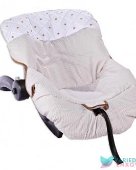 Capa de Bebê Conforto Caqui