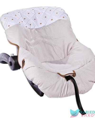 Detalhes do produto Capa de Bebê Conforto Caqui