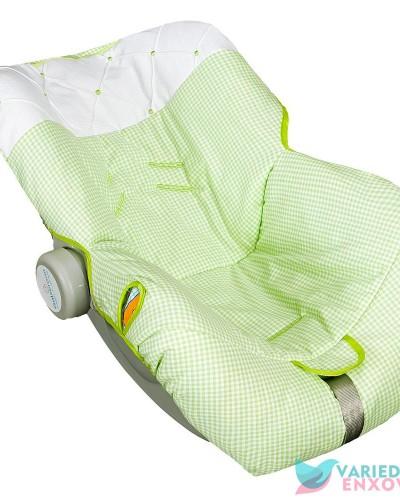Detalhes do produto Capa de Bebê Conforto Patchwork