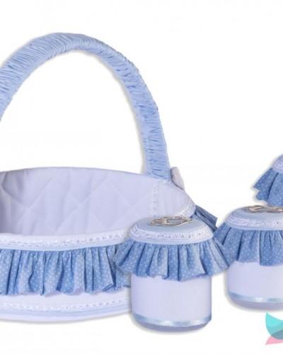 Detalhes do produto Cesta Decorada com Jogo de Potes Ursinho Azul
