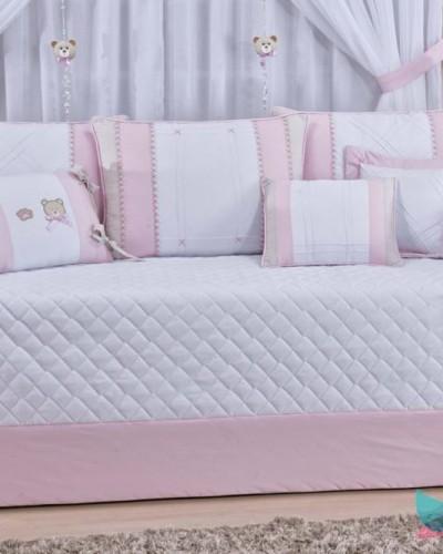 Detalhes do produto Kit Cama Babá 6 Peças Urso Rosa
