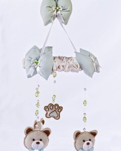 Detalhes do produto Móbile Urso Verde