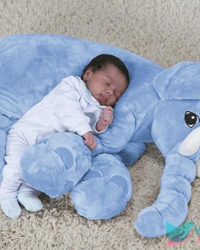 Detalhes do produto Pelúcia Travesseiro Elefante Azul