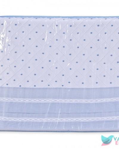 Detalhes do produto Trocador de Cômoda Boneco Azul Xadrezinho