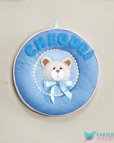 Detalhes do produto Enfeite de Porta Cheguei Urso Azul