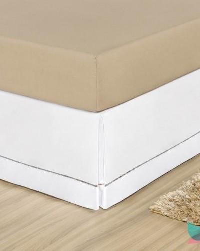 Detalhes do produto Saia para Cama Box Solteiro Branco