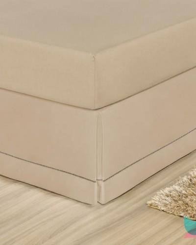 Detalhes do produto Saia para Cama Box Queen Caqui