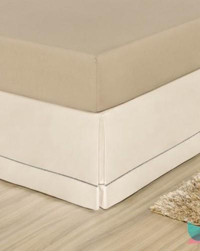 Detalhes do produto Saia para Cama Box King Palha