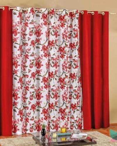 Detalhes do produto Cortina Floratta 3m Vermelha