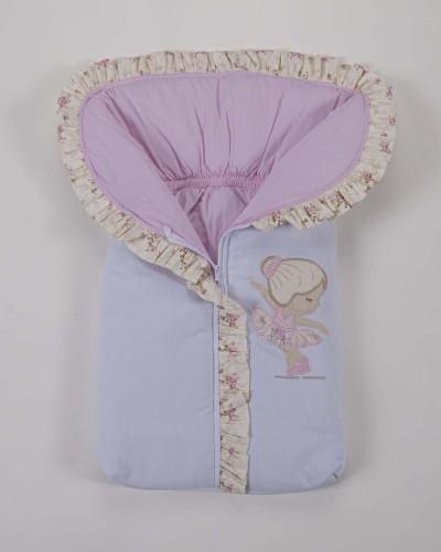 Detalhes do produto Porta Bebê 100% Algodão Rosa Boneca Bailarina Rosa Floral